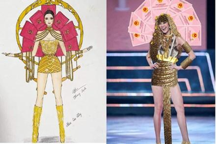 Bản thiết kế trang phục dân tộc '7 miếng đất' cho Khánh Vân thi Miss Universe 2020 gây tranh cãi