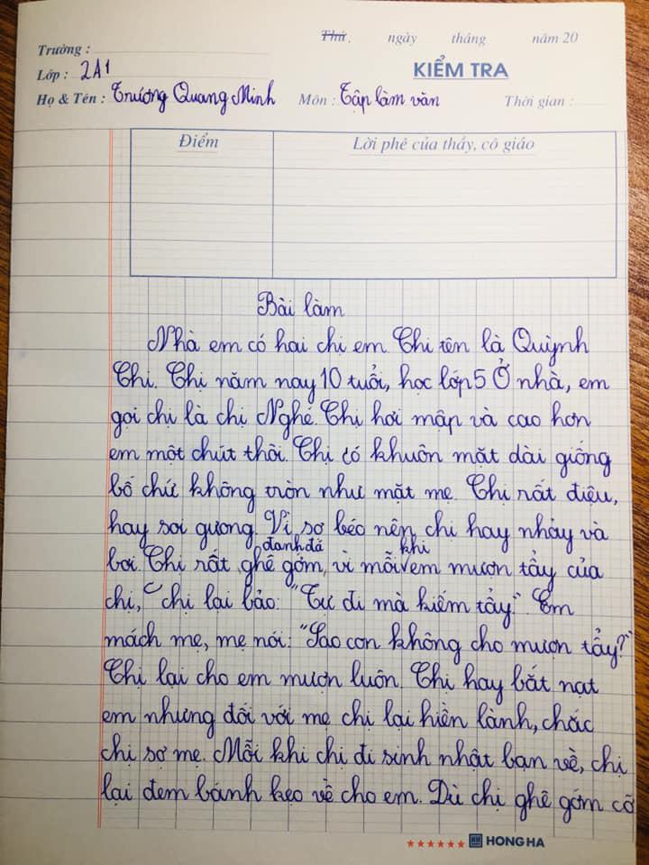 Cậu em lớp 2 viết văn bá đạo hở ra là tố chị đủ đường, nhưng phải đợi đến lúc người mẹ lên tiếng sự thật mới được hé lộ-2