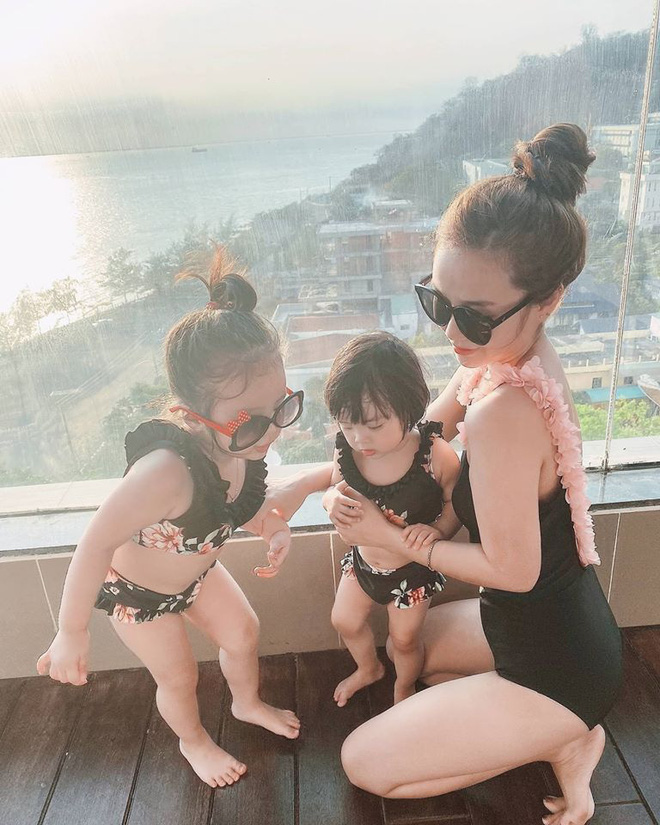 Dù đã 2 lần sinh nở, vợ Hoài Lâm vẫn gợi cảm như hot girl-4