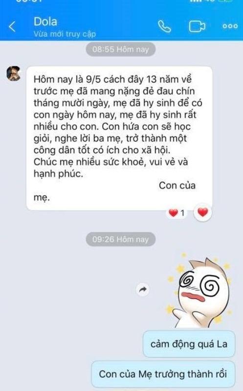 Diễn viên Kim Thư chia sẻ tin nhắn của con trai nhân Ngày của Mẹ, ai nấy sững sờ vì cậu bé mới 13 tuổi đã quá chững chạc-2