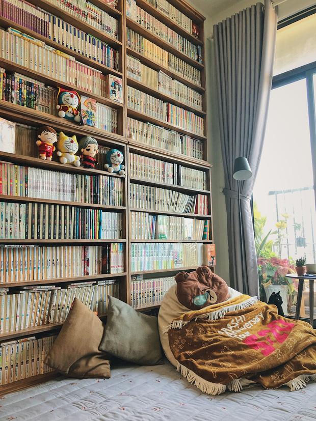 Chàng trai đầu tư 300 triệu decor nhà đi thuê, sở hữu 3000 cuốn sách truyện và vô số đồ đạc nhưng vẫn gọn gàng hết nấc-2