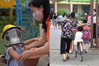 Chùm ảnh giữa thời tiết nắng nóng tháng 5, ông bà cha mẹ đưa con quay lại trường: Liên tục dặn dò phòng dịch, lo lắng nhìn cháu khóc mãi không thôi