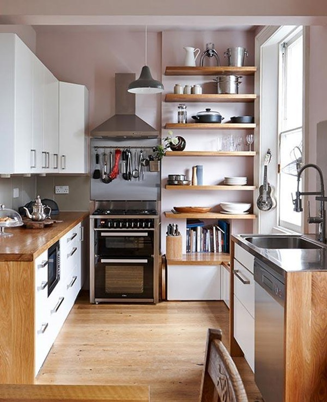 8 cách bố trí thông minh cho những gian bếp chật hẹp, ai cũng cần biết-3