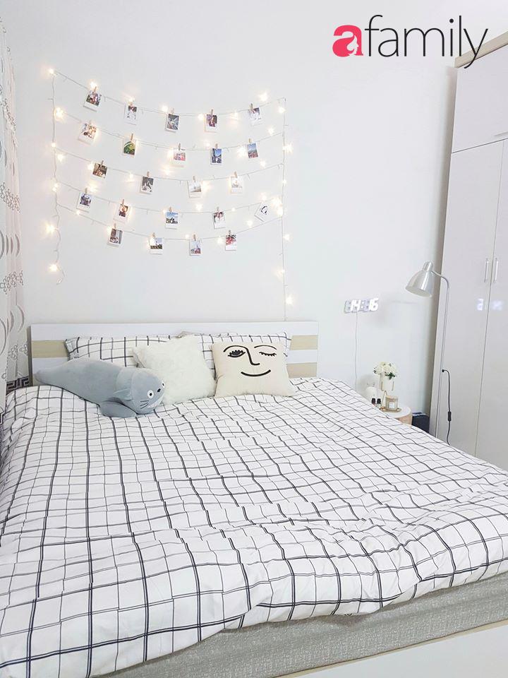 Sau gần 3 tháng nghỉ học, cô gái hô biến căn phòng chứa đồ thành phòng ngủ với thiết kế tone trắng mát mắt, sành điệu-2