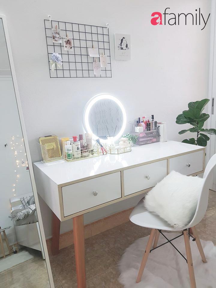 Sau gần 3 tháng nghỉ học, cô gái hô biến căn phòng chứa đồ thành phòng ngủ với thiết kế tone trắng mát mắt, sành điệu-5