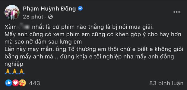 Hậu Cánh Diều Vàng: Cha đẻ Gái Già Lắm Chiêu lên Facebook ahihi nực cười, Huỳnh Đông lên tiếng tôi không mua giải?-1