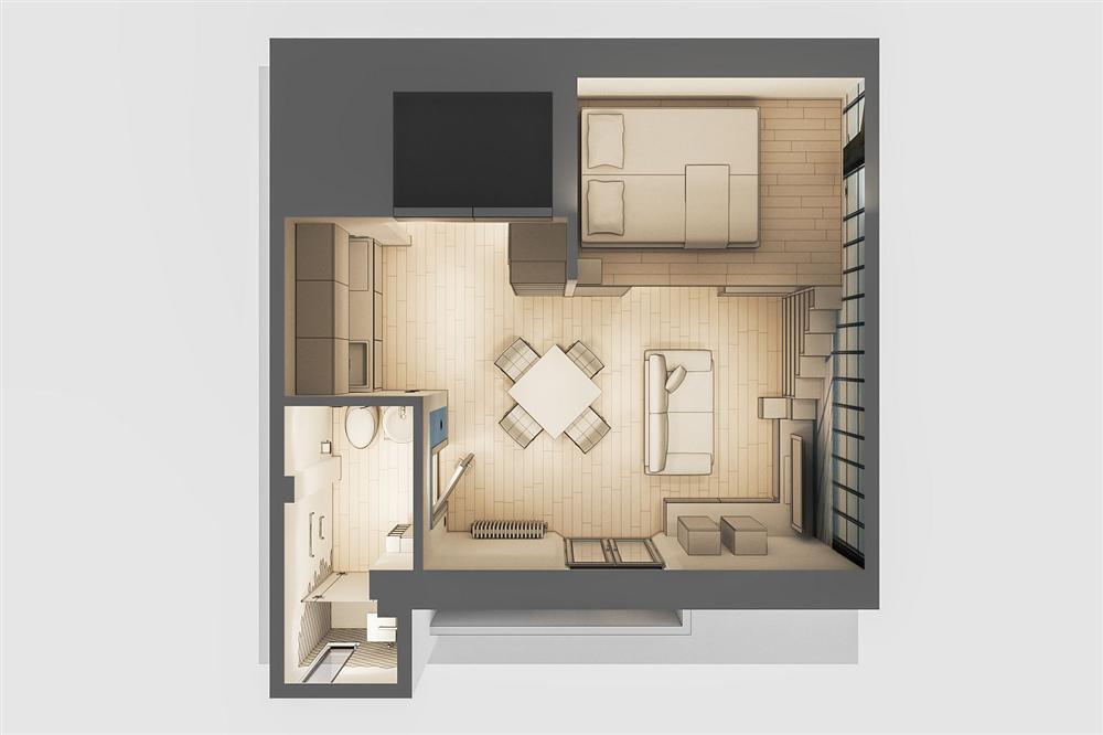 Chỉ vỏn vẹn 29m² nhưng căn hộ dưới đây vẫn gây thương nhớ với màu trắng tinh khôi cùng nội thất siêu tiết kiệm không gian-1