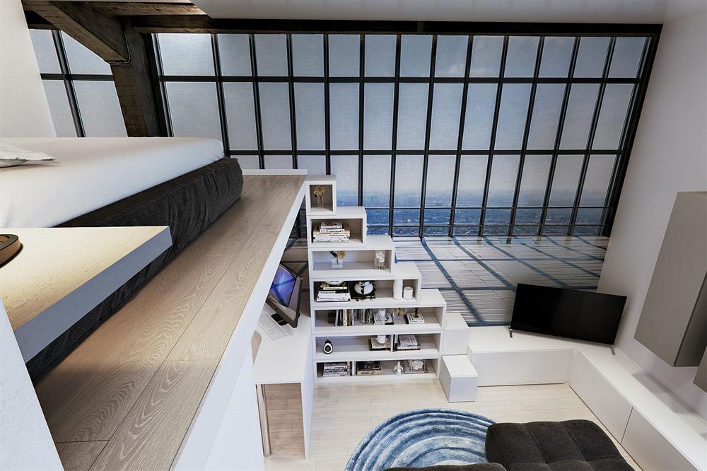 Chỉ vỏn vẹn 29m² nhưng căn hộ dưới đây vẫn gây thương nhớ với màu trắng tinh khôi cùng nội thất siêu tiết kiệm không gian-2