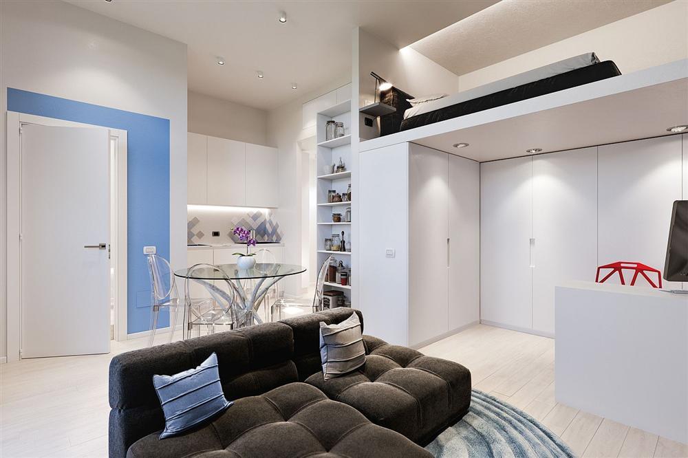Chỉ vỏn vẹn 29m² nhưng căn hộ dưới đây vẫn gây thương nhớ với màu trắng tinh khôi cùng nội thất siêu tiết kiệm không gian-4