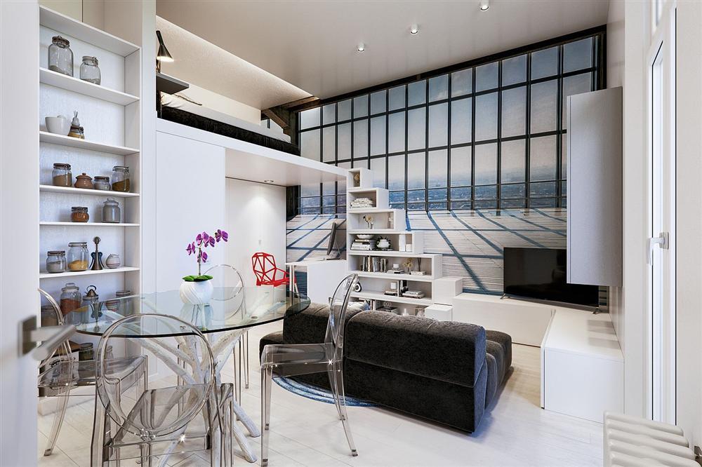 Chỉ vỏn vẹn 29m² nhưng căn hộ dưới đây vẫn gây thương nhớ với màu trắng tinh khôi cùng nội thất siêu tiết kiệm không gian-5