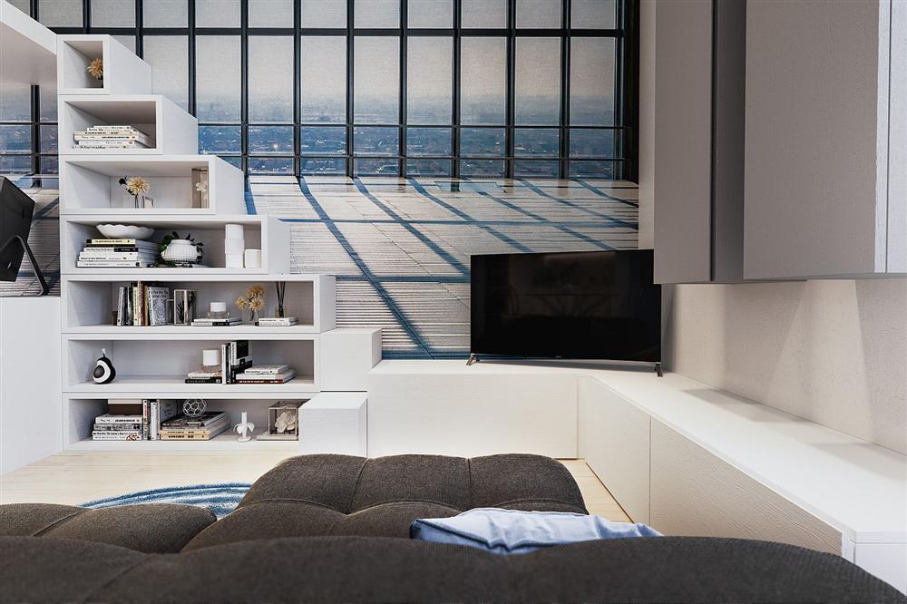 Chỉ vỏn vẹn 29m² nhưng căn hộ dưới đây vẫn gây thương nhớ với màu trắng tinh khôi cùng nội thất siêu tiết kiệm không gian-6