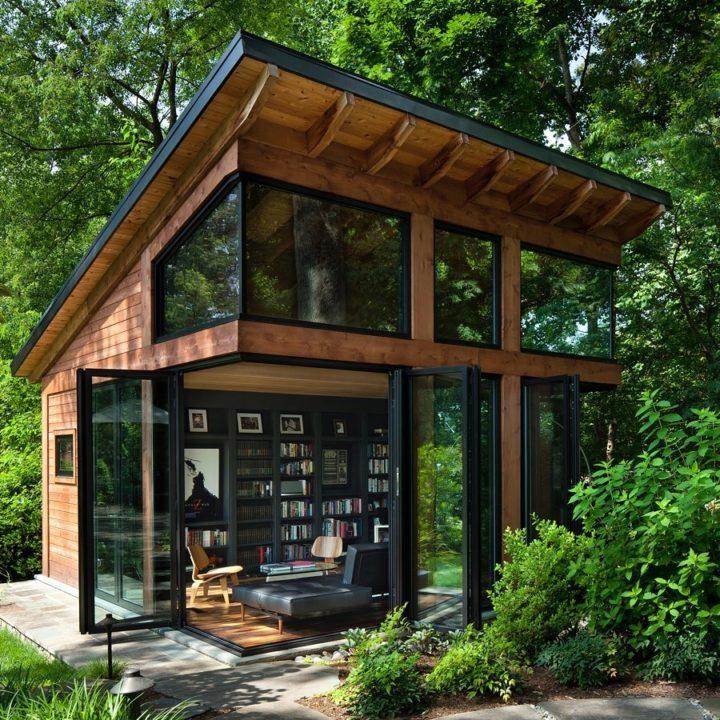Ngôi nhà bốn bề là vườn cây xanh mát lý tưởng dành cho những ai yêu thích đọc sách-1