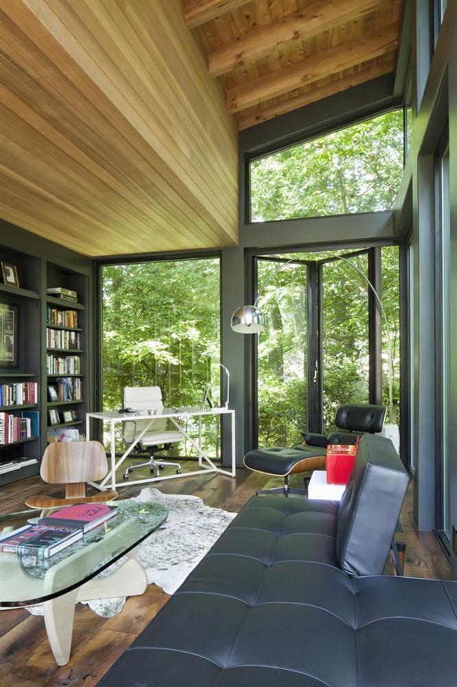 Ngôi nhà bốn bề là vườn cây xanh mát lý tưởng dành cho những ai yêu thích đọc sách-3