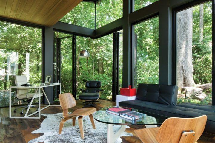 Ngôi nhà bốn bề là vườn cây xanh mát lý tưởng dành cho những ai yêu thích đọc sách-2
