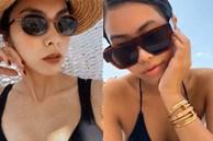 Hà Tăng - Tiên Nguyễn khoe ảnh diện bikini lấp ló vòng 1: Cặp chị em dâu hơn kém 10 tuổi gợi cảm và thân thiết nức tiếng Vbiz