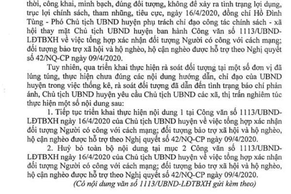 Thanh Hóa: Huyện hủy chỉ đạo không nhận hỗ trợ, trưởng thôn ngậm ngùi tôi sai-2