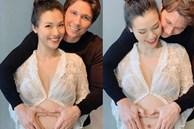 MC Hoàng Oanh lần đầu khoe bụng bầu lớn vượt mặt, nhan sắc những tháng cuối thai kỳ gây chú ý