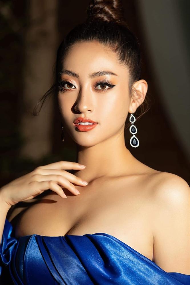 Hoa hậu Lương Thùy Linh diện váy hai dây khoe thềm ngực nõn nà khó cưỡng-5