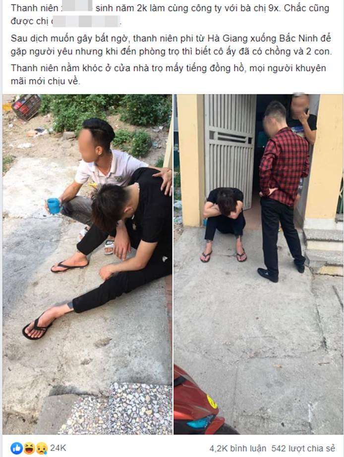 Đi từ Hà Giang xuống Bắc Ninh thăm chị người yêu, thanh niên phát hiện bạn gái đã 1 chồng 2 con, dân mạng mách cách hiểm-1