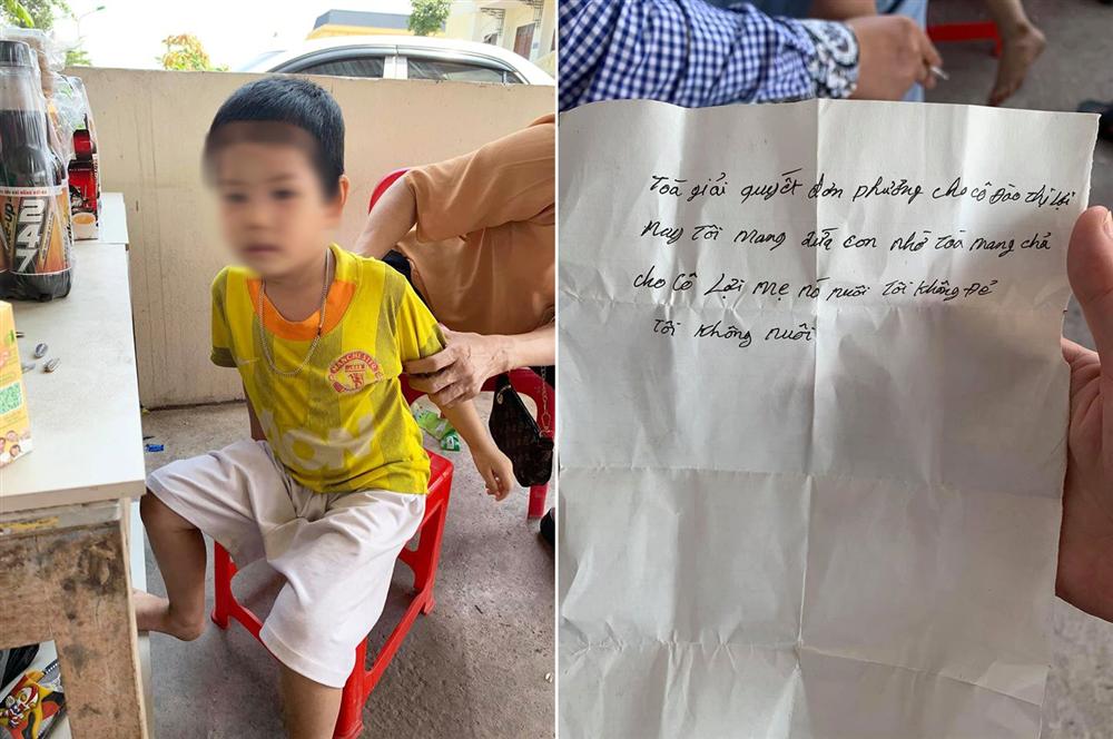 Xót xa bé trai 5 tuổi bị bố bỏ rơi tại tòa kèm tờ giấy nhắn: Tôi không đẻ, tôi không nuôi-1