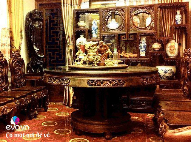 """Tiến sĩ trẻ biến chung cư cũ 350m² thành dinh thự"""" khủng, riêng bộ bàn trà đã 6 tỷ đồng-20"""
