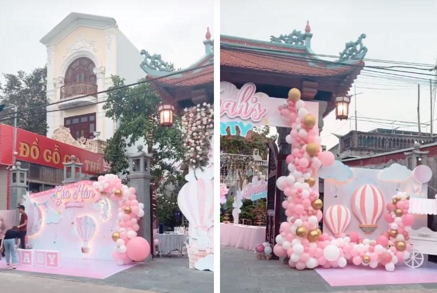 Cô dâu 200 cây vàng ở Nam Định thon gọn ngoạn mục so với lúc bầu, khoe nhan sắc lộng lẫy trong bữa tiệc của con gái đầu lòng-4