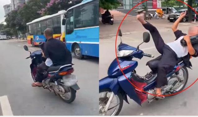 Ông già 62 tuổi buông 2 tay, phóng xe vèo vèo ở Hà Nội bị triệu tập, phạt 8,25 triệu đồng-1