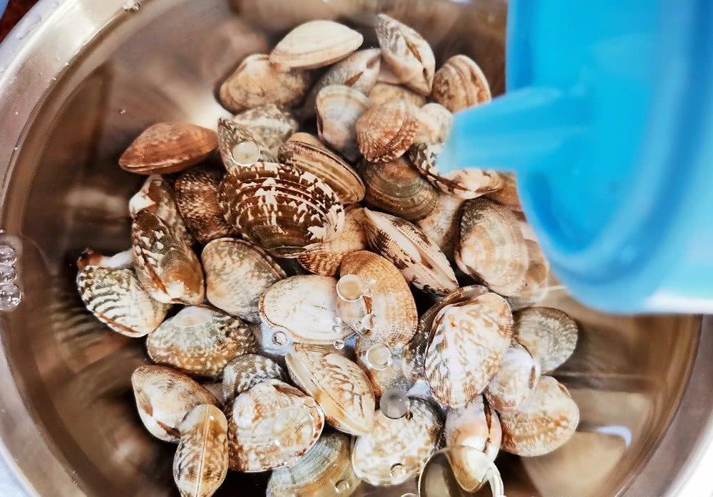 Ngoài muối, thêm vài giọt nguyên liệu này ngâm, ngao đảm bảo nhả sạch cát không còn một hạt-2