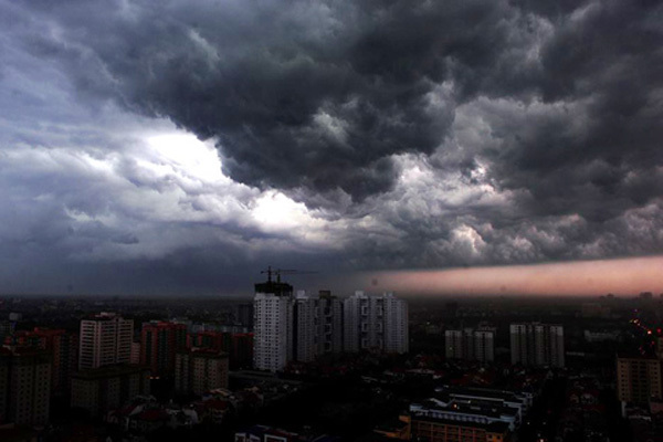 Dự báo thời tiết ngày 22/5/2020: Hà Nội mưa giông gió giật-1