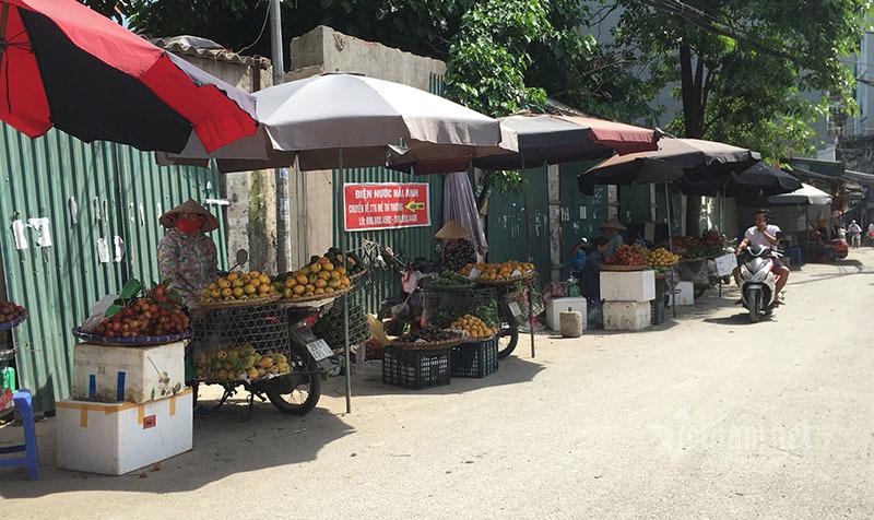 Nắng đổ lửa, chợ vắng tanh, hoa quả đắp chăn giữa trời 40 độ-6