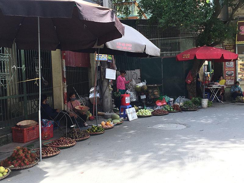 Nắng đổ lửa, chợ vắng tanh, hoa quả đắp chăn giữa trời 40 độ-7
