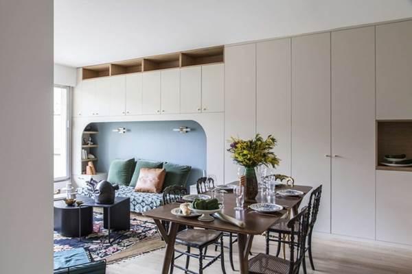 9 mẫu thiết kế phòng khách kết hợp bếp siêu độc đáo, hack không gian cực đỉnh cho căn hộ nhỏ-1