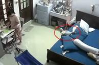 CLIP: Đứa trẻ ngã lộn cổ xuống đất khiến người giúp việc sửng sốt, tình huống khiến cha mẹ nào cũng phải cảnh giác