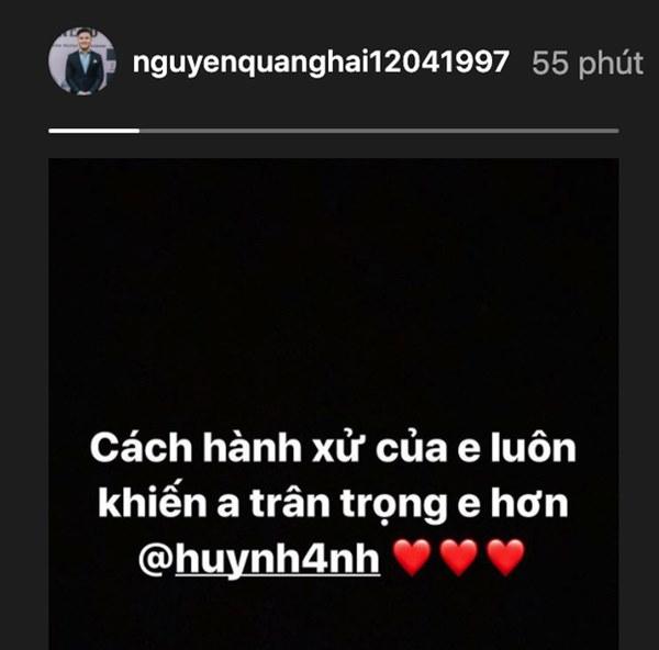 Quang Hải nhắn nhủ Huỳnh Anh lúc nửa đêm: Cách hành xử của em luôn khiến anh trân trọng em hơn-1