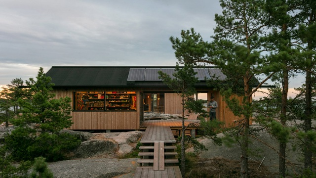 Ngắm nhà gỗ tuyệt đẹp nằm giữa đảo, bốn bề đều nghe tiếng sóng biển-2