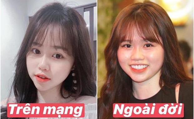Bạn gái Quang Hải cũng không thoát khỏi cán cân ảnh trên mạng - ngoài đời: Bạn thích bên nào hơn?-1