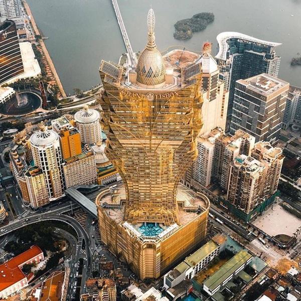 """Cận cảnh công trình để đời nhất của ông trùm"""" sòng bạc Macau vừa qua đời: Toà nhà hình búp sen vàng khổng lồ, hình check-in ngập tràn MXH-5"""
