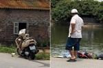 Phát hiện thi thể người phụ nữ cùng chiếc xe máy dưới ao sau khi liên hoan không về nhà