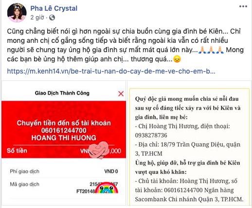 Ốc Thanh Vân xót xa, Lương Thuỳ Linh đến viếng và dành điều đặc biệt cho gia đình bé trai tử vong vì cây phượng bật gốc-3