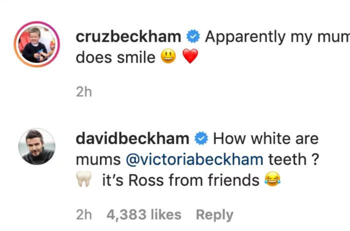 Bà xã có lần hiếm hoi cười tươi rói trên MXH, David Beckham liền đưa ra lời bình luận nhận về cơn bão thả tim của dân mạng-3