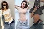"""Loạt sao V-biz tiếp tục diện quần jeans """"nửa mặc nửa tụt"""" nhưng e là không ai hot bằng mẹ bầu sexy Hà Hồ"""