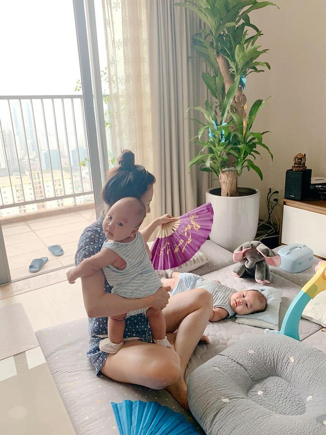 Sắc vóc vợ hai kém 8 tuổi của MC Thành Trung sau khi sinh đôi-5