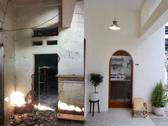 Được bố mẹ cho nhà bỏ hoang 10 năm, đôi vợ chồng trẻ tân trang thành quán cà phê nhỏ xinh-1