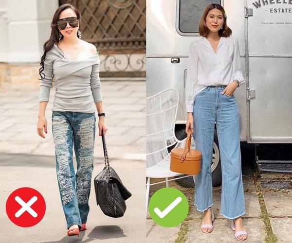 Mắc 4 sai lầm này khi diện quần jeans, chị em tự đưa mình vào top mặc xấu chốn công sở-1
