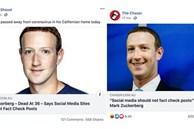 """Mark Zuckerberg bị tung tin đồn 'qua đời ở tuổi 36"""", hoá ra là để kiểm tra khả năng quét tin giả của Facebook"""