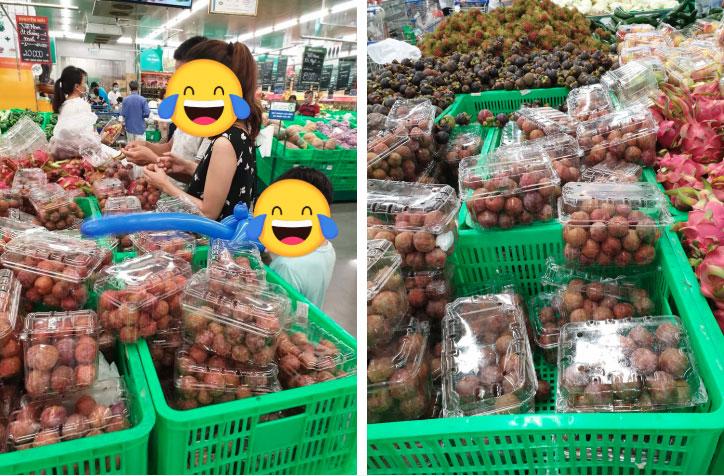 Đi cùng con nhỏ tới siêu thị mua mận nhưng lại có hành động cực xấu tính, cặp vợ chồng trẻ khiến dân mạng bức xúc-2