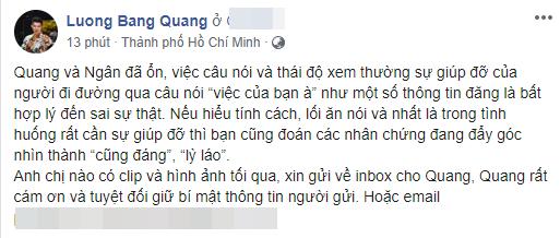 Lương Bằng Quang nhập viện vì bị vây đánh, được người đi đường giúp đỡ còn tỏ ra xem thường, tức giận?-4