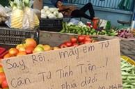 Tấm biển: 'Say rồi, ai mua tự cân tự tính tiền' của anh hàng rau thu hút 10.000 like, sự thật thú vị đằng sau mới khiến dân mạng không ngớt trầm trồ