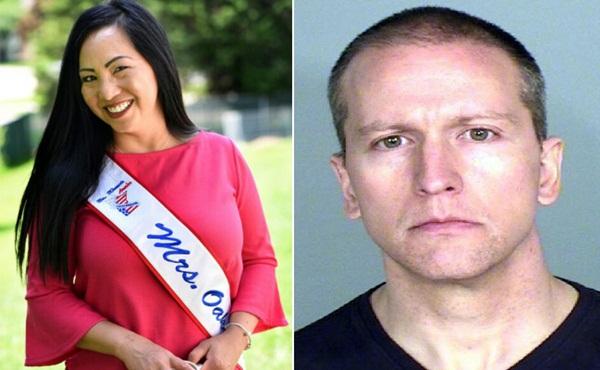 Vợ hoa hậu ly hôn cựu cảnh sát ghì chết người da màu-1