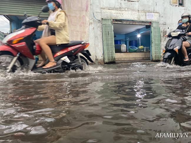 TP.HCM: Mưa lớn khiến đường ngập, cây gãy và kẹt xe, người dân lại khốn khổ lội bì bõm về nhà-5